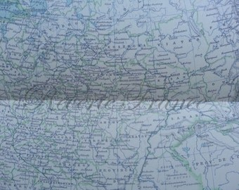 Antique Map of Russia Political  1891 Large map of Russia Occidental, Europe
