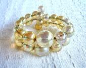 Vintage Opalescent Bead Bangle