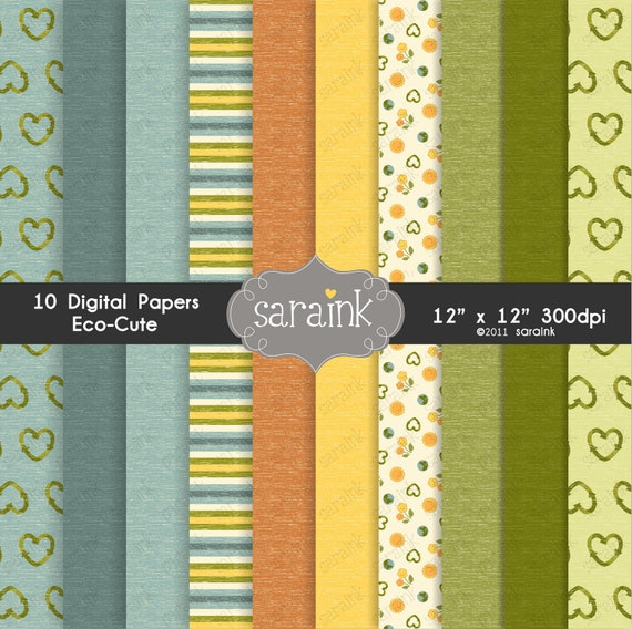 Eco-Cute Digital Papers Download