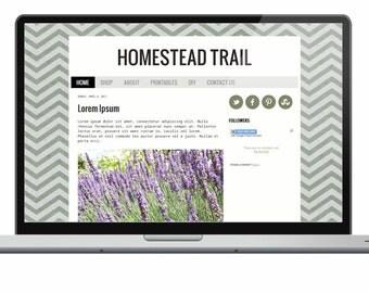 Homestead Trail - Premade Blogger Template