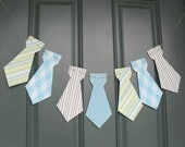Little Man necktie banner Birthday party, baby shower - Blue, Brown, Green or custom