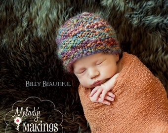 Twisticle Beanie Knitting Pattern - All Sizes Newborn through Adult Male Included - PDF Sale - Instant Digital Download