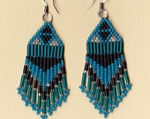 American Indian Blue Ice Dangle Earrings