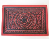 Vintage Mexican carved and lacquered tray