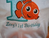 Nemo Embroidered Birthday Shirt