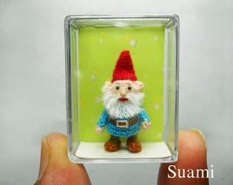 Tiny Crochet Gnome Miniature Doll Amigurumi - Made To Order