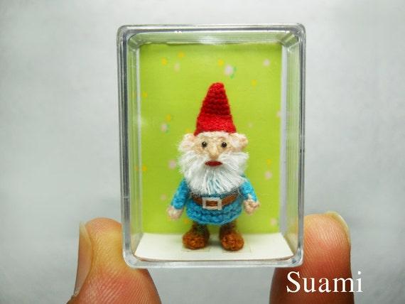 Tiny Crochet Gnome Miniature Doll Amigurumi - Made To Order