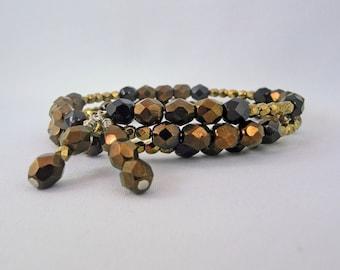 Bronze Memory Wire Bracelet