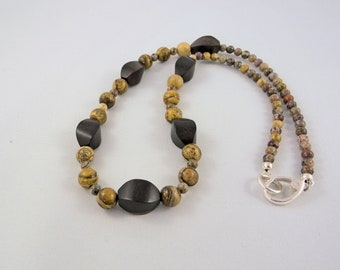 Picture Jasper & Wood Necklace