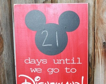 Mickey Mouse Countdown to Disneyland Chalk Board Sign