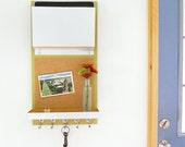 OREGON: modern message center dorm room decor wall organizer ipad holder bulletin board cork board key rack device storage back to school