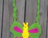 Butterfly Crocheted Purse