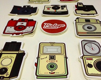 Vintage Camera Sticker Set