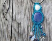 Lapis and Quartz - Blue Treasures Pendant