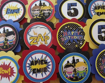 Superhero Kids Collection: Cupcake Toppers