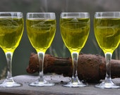 White Wine Glasses Etched With Fly Fishing Theme