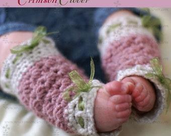 "Crochet Pattern Leg Warmers Baby ""Star Stitch Leg Warmers"""