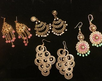 Chandelier earring lot.