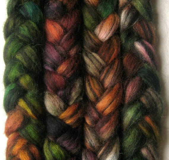 Icelandic humbug wool roving, 'Games'