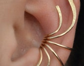 Ear Cuff - Curve Spray - 14K Gold Filled and Sterling Silver - PAIR