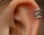 Ear Cuff - Filigree - Cartilage - Sterling Silver - SINGLE SIDE