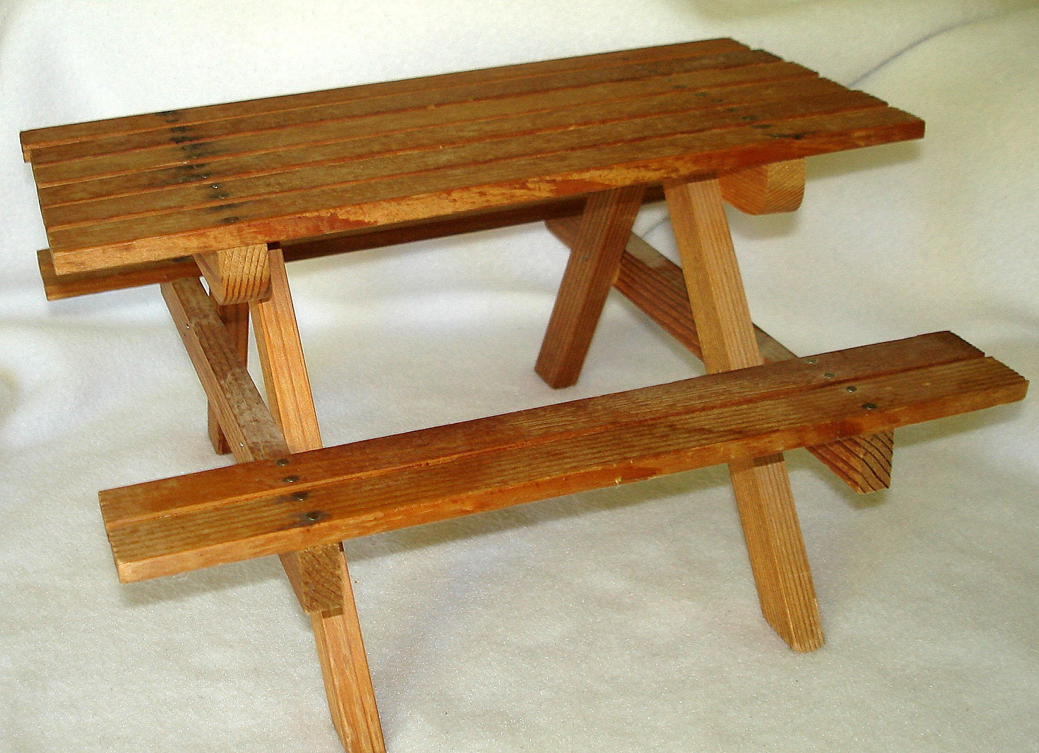 Vintage Wood Picnic Table For Dolls Toy Doll By Fineoldthings