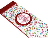 KEEP CALM Christmas Notepad - Magnetic Shopping List - To Do List - Holiday Stationary - SPARKLY Christmas Lights Stocking Stuffer