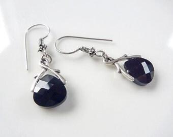 Swarovski Earrings, Jet Black funky & Glam, Vintage Chic Dangles