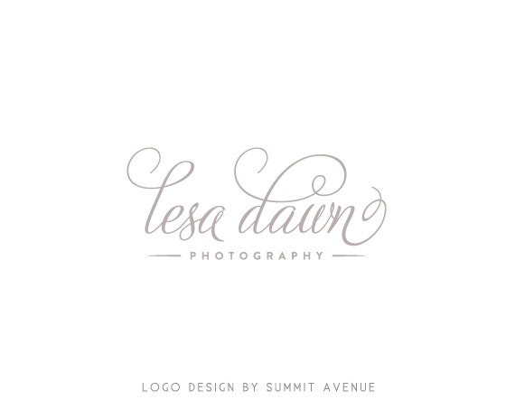 Custom PreDesigned OOAK timeless script Logo for Photography by summit avenue