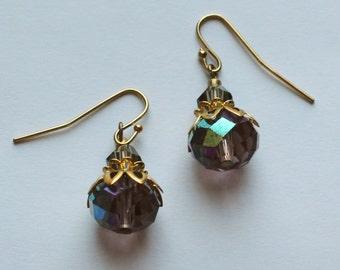 Dangle earrings, hanging earrings, Crystal earrings, swarovski crystals earrings