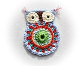 Big  Lisa Crochet Owl Light Blue  Base
