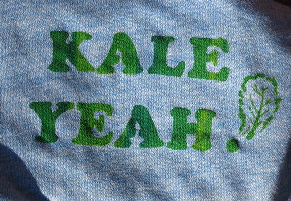 Kale Yeah T-Shirt. Fun Adult graphic tee