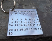 Save the date calender keyring personalised wedding gift