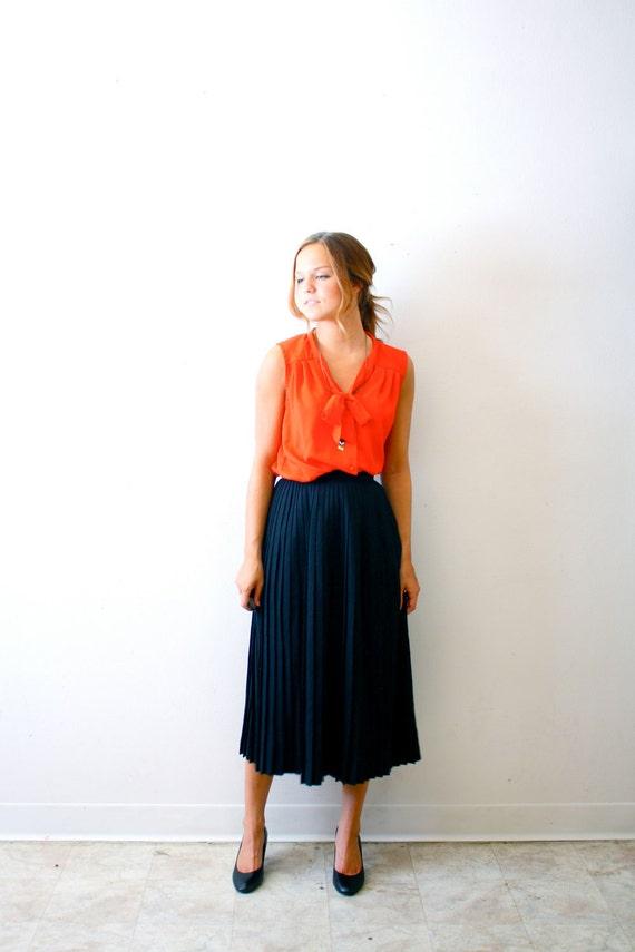 Vintage black maxi/midi skirt