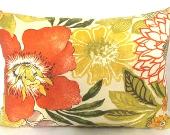 Swavelle/Mill Creek Indoor/Outdoor Jolene Floral Ivory Pillow Cover 12 X 17