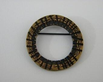 Bronze Open Circle Brooch / Pin