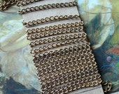 6FT Deco Ornate Linked Brass Vintage Chain