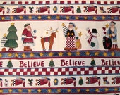 I Believe Christmas Border Print By Alma Lynne