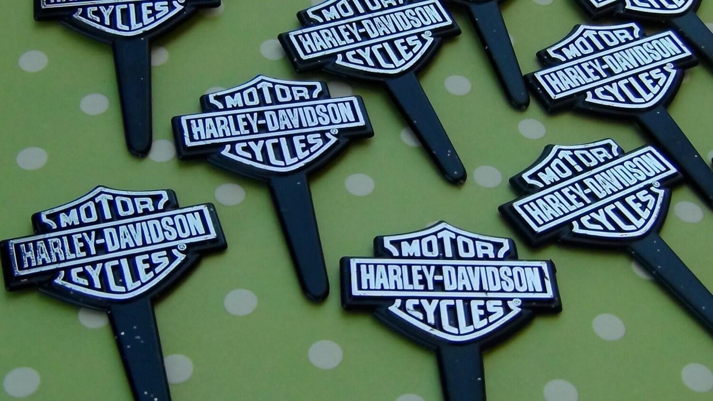 Harley Davidson Cake Decorations Harley Davidson Cupcake Picks