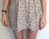 RESERVED Floral, Spaghetti Strap Mini Dress
