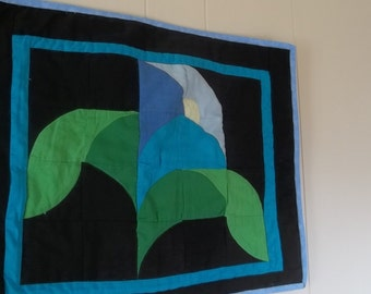 Quilted Morning Glory Wall Hanging