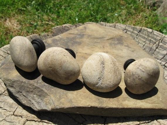 Beach Stone Cabinet Knobs BEIGE ROUND Beach Stone Cabinet Knobs