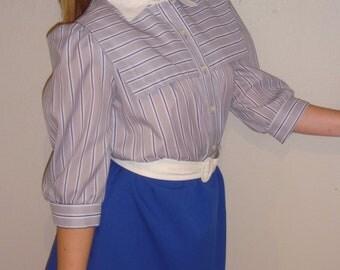 bold blue skirted mini dress