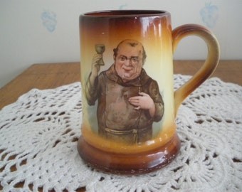 Limoges Porcelain Monk Mug Stein Vintage