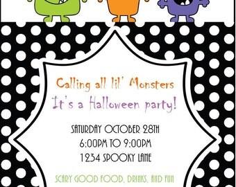 Monster Bash Halloween Printable Invitation