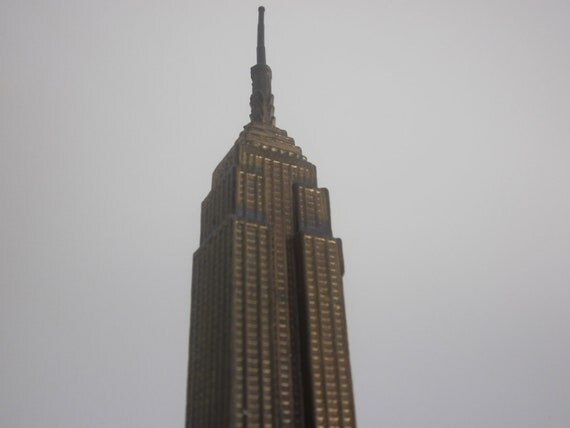 Vintage New York Empire State Building Souvenir Industrial Architecture