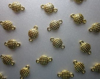 SALE - Golden Alloy Linking Beads Gold Connectors 13mm 24 Beads