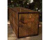 Personalized Wedding Ceremony Wine Crate - Copper Name Plate - Wine Box - Pre-Drilled - Includes Nails -  Stained - Rustic