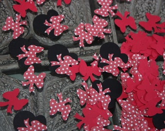 200 Minnie Confetti/Scrapbooking/Embellishment/Die cut/Cutout/Birthday Party
