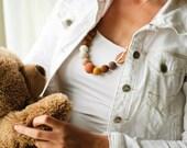 Brown & Mustard Gradient - Breastfeeding Necklace